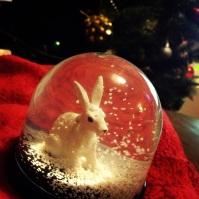 Rabbit Snow Globe